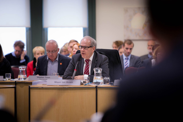 Len Brown at a Council meeting about the Unitary Plan. 10 August 2016.