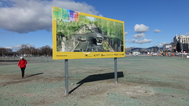 The site for a planned a network of multi-million-dollar apartments in central Christchurch.