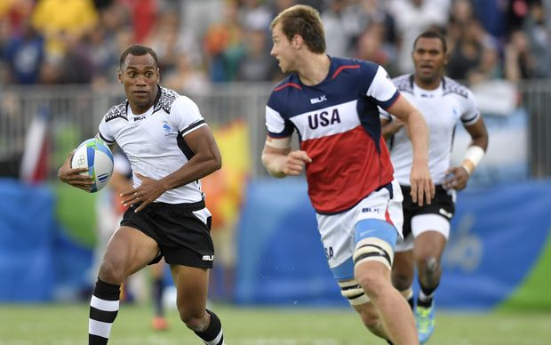Osea Kolinisau scored a try and received a yellow card in Fiji's win over the USA.