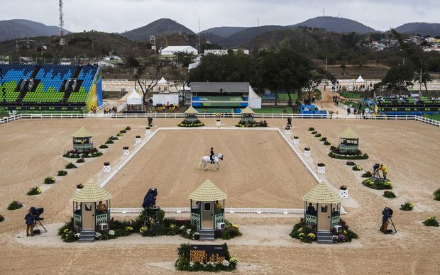 The equestrian dressage event under way on 10 August.