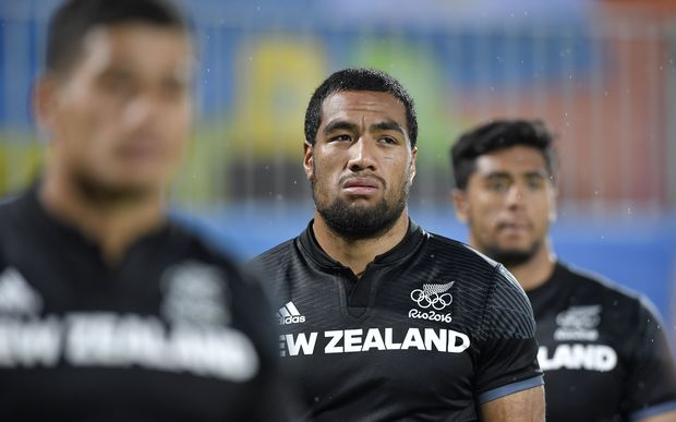 Sione Molia after the defeat in the men's rugby sevens quarter-final.