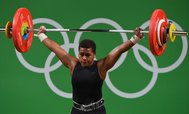 Fiji weightlifter Apolonia Vaivai.
