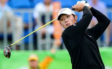 New Zealand golfer Danny Lee at the Olympics.