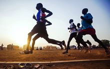 South Sudanese Olympic hopefuls train in Juba for a chance to qualify for the Rio  Olympics.