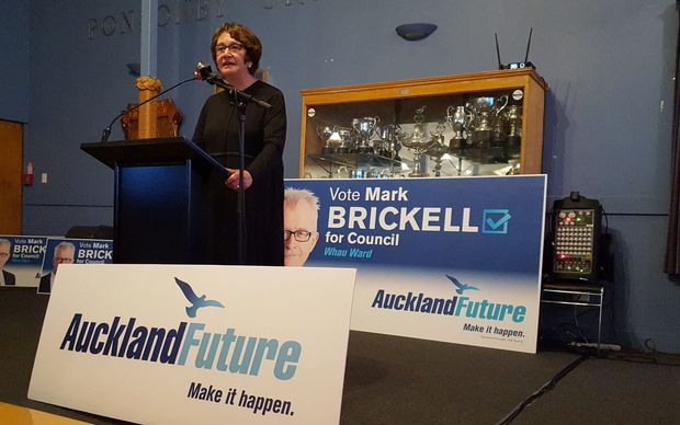 Auckland Future's co-ordinator Sue Wood at last night's campaign launch.