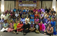 Policy makers and practitioners meet to discuss ending violence against women in Sigatoka, Fiji.