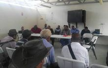 Hela landowners meet with Mineral Resources Development Company officials in Papua New Guinea.