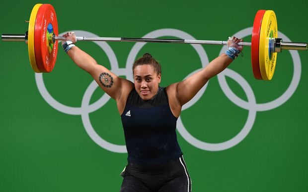 Cook Islands's Luisa Peters in action at the Rio Olympics.