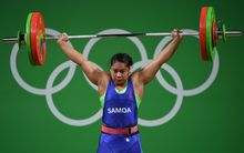Samoa's Mary Opeloge at the Rio Olympics.