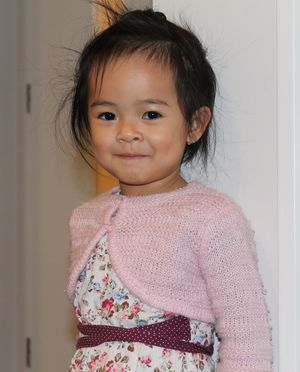 A photo of Vanny Yun's 2 year old daughter, Sonila