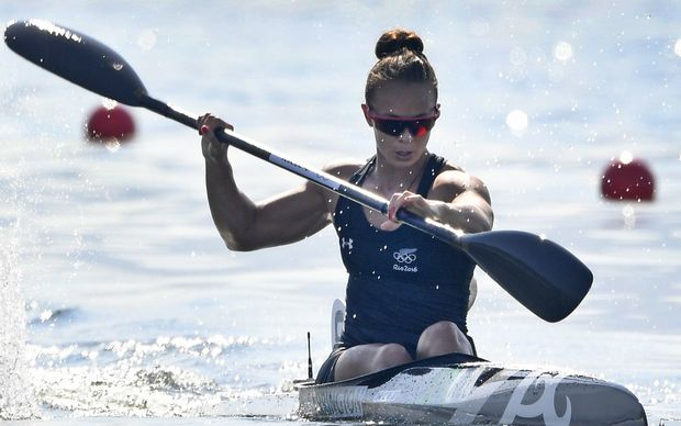 New Zealands Lisa Carrington Competes In The Womens Kayak Singe K1 200m Competition At
