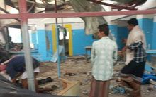 picture released by Doctors Without Borders (MSF) shows people examining a hospital operated by the NGO after it was hit by an Arab coalition air strike on August 15, 2016 in Abs.