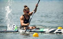 New Zealand's Lisa Carrington in the womens K1 200m, Rio Olympics Games 2016, Rio de Janeiro.