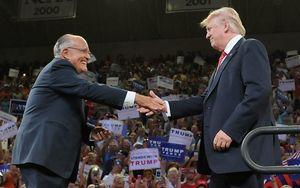 Former New York mayor Rudy Giuliani has been chaperoning Donald Trump this week.