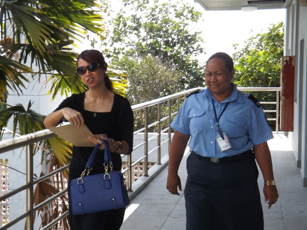 Director of Public Prosecution Mauga Precious Chang (LEFT) has been charged with traffic offences.