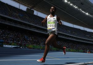 Solomon Islands' Rosefelo Siosi competes in the Men's 5000m at the Rio Olympics.