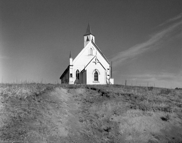 Methodest Church in the Hokianga harbour, by Laurence Aberhart (1982)