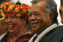 The Cook Islands Prime Minister Henry Puna