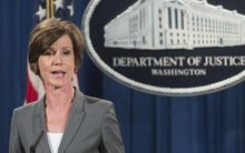 US Deputy Attorney General Sally Yates