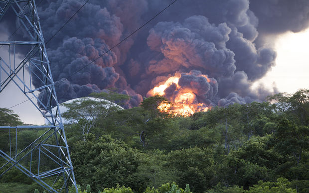 A second fuel tank explodes at the Puma Energy plant in Puerto Sandino, 70 km north of the Nicaragua capital  Managua.