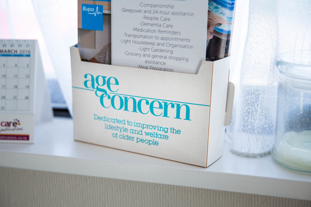 Leaflets at Age Concern in Havelock North.