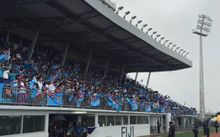 The stands were packed at ANZ Stadium in Suva for the Fiji sevens team's welcome home celebration.