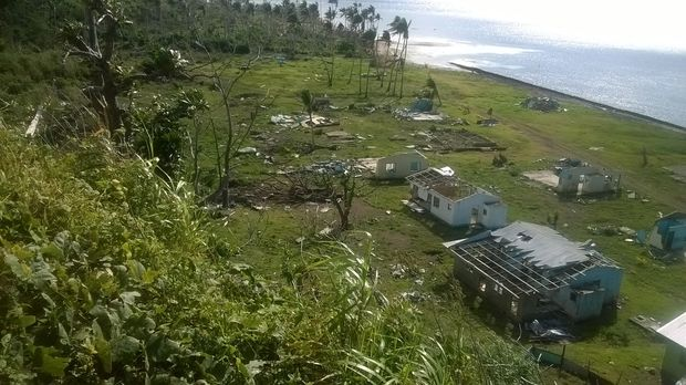 Nasau, on Fiji's Koro Island, was devastated by a huge storm surge and high winds from Cyclone Winston in February 2016.