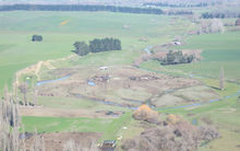 A feedlot in Papanui in central Hawkes Bay, near Waipawa.