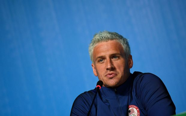 Ryan Lochte at a media conference in Rio de Janeiro, before the opening ceremony of the Rio 2016 Olympic Games.