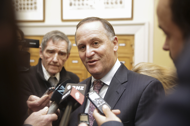 22082016 Photo: Rebekah Parsons-King. Caucas run. John Key.