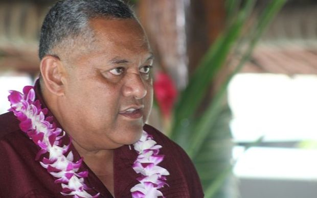 American Samoa's Lt Governor Lemanu Peleti Mauga at the Pago Pago launch of Talofa Airways