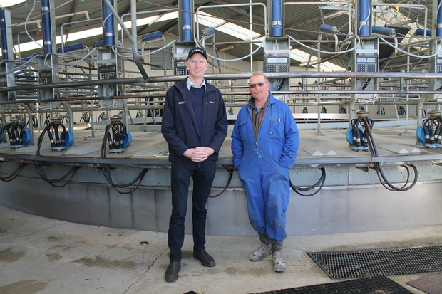 SIDDC director Ron Pellow and farm manager Peter Hancox