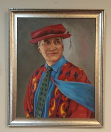 Portrait of Dr Rongo Wetere - one of the paintings removed from the Maniapoto Trust Board offices.