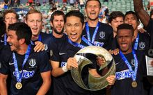 Auckland City celebrate winning the 2016 OFC Champions League.
