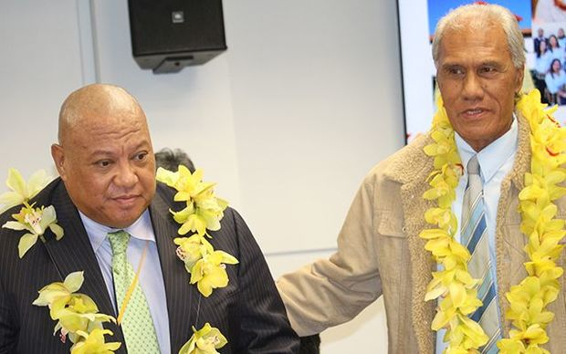 Tongan Noble MP Lord Vaea, (left), and PM 'Akilisi Pohiva.