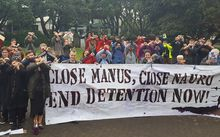 Protestors at Parliament have called on the government to step up and more forcefully oppose Australia's use of offshore detention camps.