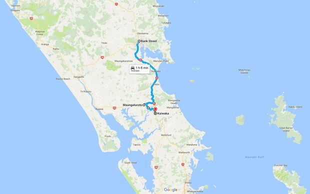 It would normally take about an hour to drive between Whangarei and Kaiwaka through Maungaturoto.