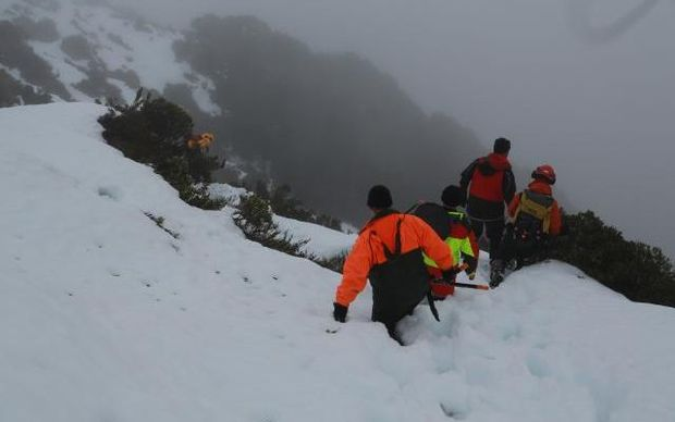 Heavy snow made the Routeburn Track impassable.