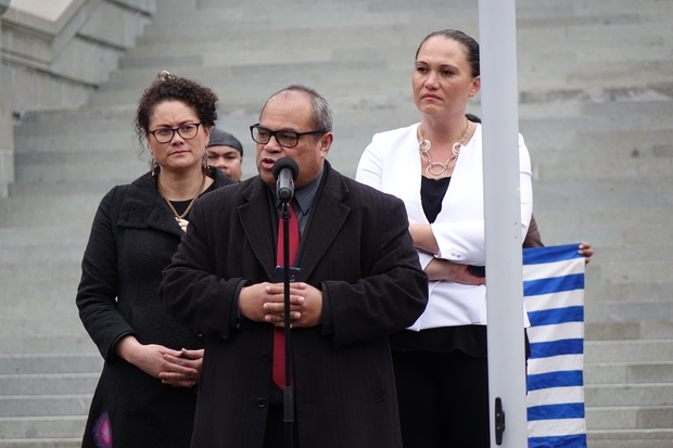 New Zealand MPs (from left) Louisa Wall, Su'a William Sio and Carmel Sepuloni.