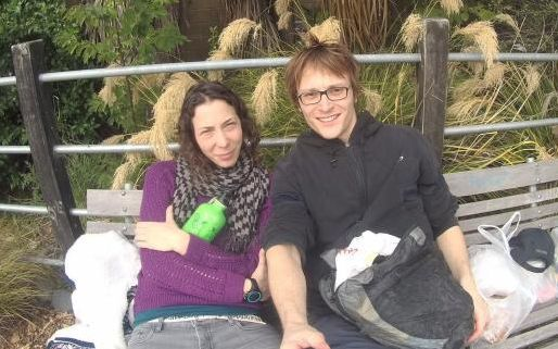 A photo of Pavlina Pizova with her partner Ondrej Petr, who died while tramping in Otago.