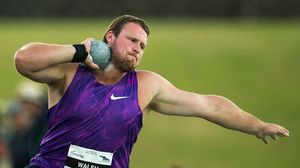 Tom Walsh throws in the Men's Shot Put at the Auckland Track Challenge, Douglas Track and Field.Trusts Arena, Auckland, New Zealand, Thursday, February 25, 2016. Copyright photo: David Rowland / www.photosport.nz