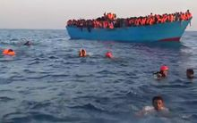 Migrants were rescued about 20km off the coast of the Libyan town of Sabratha.