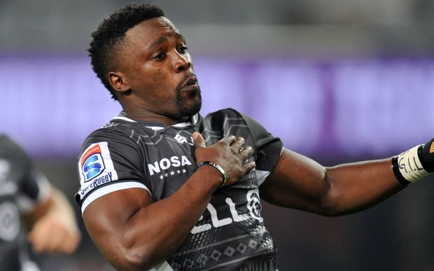 The Sharks winger Lwazi Mvovo.