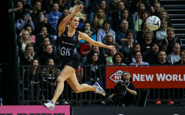 New Zealand's Jane Watson in action during the Netball Quad Series netball match netball match - Silver Ferns v South Africa played at Claudelands Arena, Hamilton, New Zealand on Wednesday 31 August 2016.