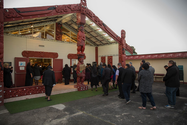 People are welcomed onto Te Puea Marae with a powhiri and a closing ceremony. 31 August 2016.