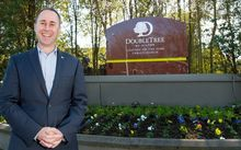 David Wain, general manager at the DoubleTree by Hilton hotel.