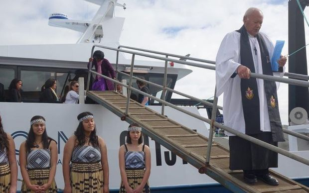 The Santy Maria was commissioned by iwi-owned fisheries company Moana New Zealand, which said the new boat was the start of a $30 million modernisation programme designed to set new environmental standards in trawling.