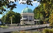 The Thomas Edmonds Band Rotunda in Christchurch before the earthquakes.