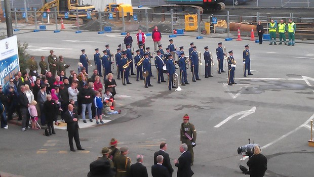A wreath laying ceremony was later held at the National War Memorial in Wellington.