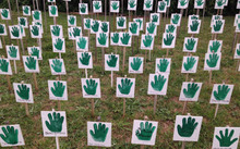 Hands up for democracy protest in Norfolk Island